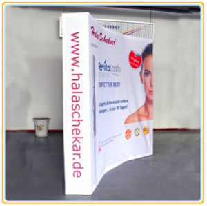 8ft Curved Pop up Exhibition Booth with Magic Tape pictures & photos