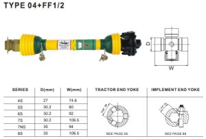 Pto Shaft 04+FF1/2 for Agriculture Machinery pictures & photos
