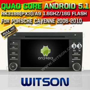 Witson Android 5.1 for Porsche Cayenne 2006-2010 Head Unit Car DVD with Chipset 1080P 16g ROM WiFi 3G Internet DVR Support (A5546) pictures & photos