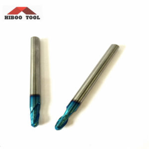 Blue Nano Coated HRC65 Ball Nose Cutting Tools for Metal pictures & photos