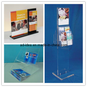 Clear Acrylic Sign Holder Brochure Pocket Stand, Newspaper Banner (AD-ACL-3881) pictures & photos