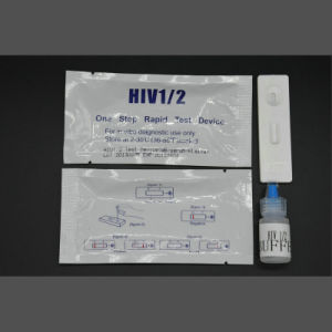Medical HIV1+2 Rapid Test HIV Home Use Test Kits pictures & photos