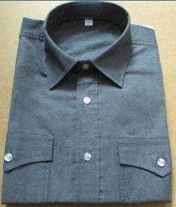 Men Grey Double Pockets and Flaps Shirts pictures & photos