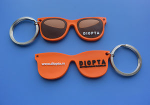 Glasses Design Soft PVC Keychain pictures & photos