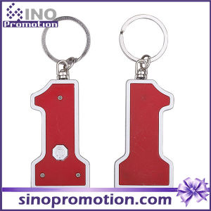 Number Shape Mini LED Light Key Ring Keychain pictures & photos