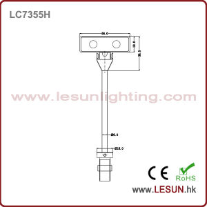 Rotating 2W LED Cabinet Light/Showcase Light LC7323t-2 pictures & photos