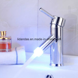 Contemporary Brass Basin Mixer with Chrome Finish (LED) pictures & photos