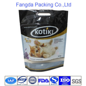 Glossy Ziplock Stand Pet Food Pouch with Handle