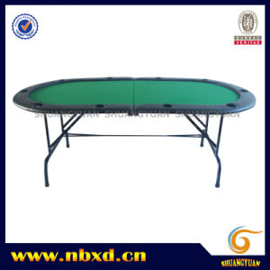 2 Folding 10 Person Poker Table with Iron Leg (SY-T08) pictures & photos