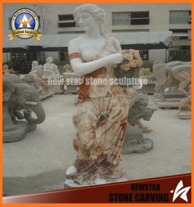 Portable Baskets Marble Stone Carving Lady Figure (NS-11F03) pictures & photos