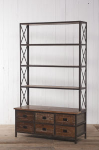 Mignon and Delicate Book Shelf Antique Furniture with Drawers