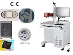 Good Quality Desktop Fiber Laser Marking Machine with CE Approval pictures & photos
