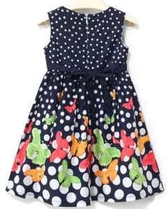 Fashion Girl Flower Location Dress in Children Clothing Sqd-148 pictures & photos