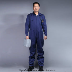 100% Cotton High Quality Cheap Long Sleeve Safety Coverall Workwear (BLY2003) pictures & photos