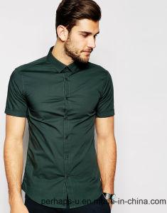 Fashion Mens Cotton Short Shirt pictures & photos