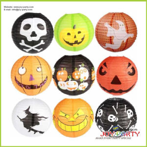 Round Printing Paper Lantern for Halloween Decoration pictures & photos