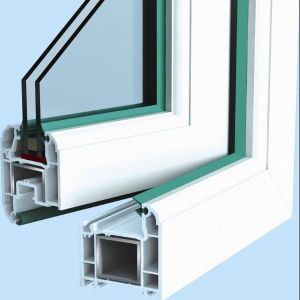 Differe Colored UPVC Profile for Doors and Windows Plastic Profile pictures & photos