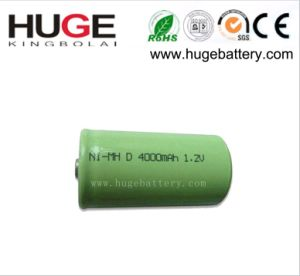 1.2V D Size 4000mAh Ni-MH Rechargeable Battery (D) pictures & photos