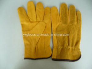 Driver Glove-Cow Hide Driver Glove-Leather Glove-Work Glove pictures & photos