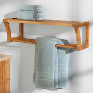 Decorative Standing Bamboo Towel Shelf From China pictures & photos