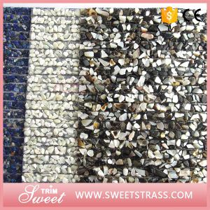 Small Big Stones Mixed Hot Fix Rhinestone Mesh Sheet pictures & photos