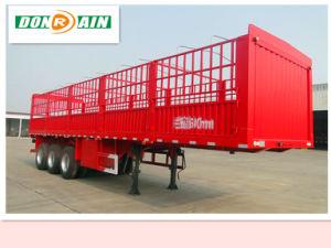 Hubei Dongrun 3 Axle Stake Cargo Box Truck/Trailer
