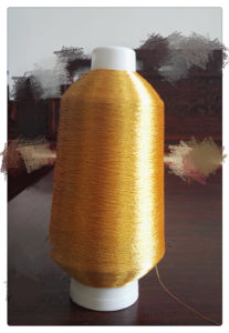 Fluorescent Golden Color Metallic Yarn Lurex Yarn Embroidery Yarn Polyester Yarn pictures & photos