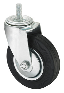 Middle Duty Series Caster - Threaded W/O Brake - Black Industrial Rubber (roller bearing) pictures & photos