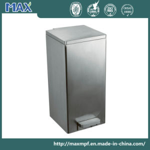 Outdoor Square Pedal Stainless Steel Garbage Waste Bin pictures & photos