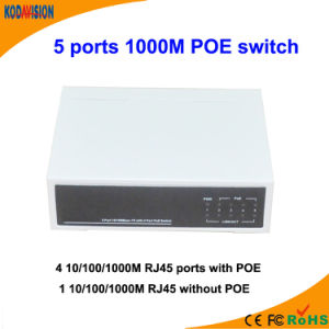 5 Ports 1000m Poe Switch pictures & photos