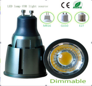 7W Dimmable GU10 COB LED Lighting pictures & photos