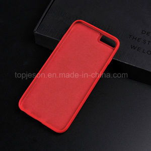 Red with Brown Genuine Leather Case for iPhone 6/6s pictures & photos