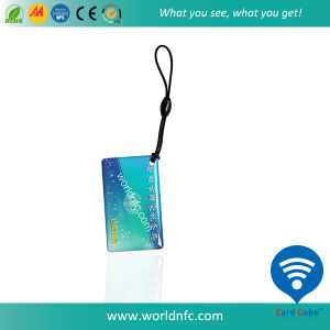 ISO14443A RFID 13.56MHz Contactless Keychain, Smart NFC Epoxy Card pictures & photos