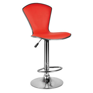 Contemporary Red Color Faux Leather Bar Chair with Backrest (FS-T6048) pictures & photos