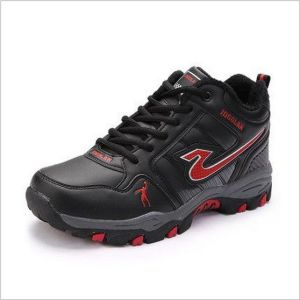 Sports Basketball Shoes Non Slip Waterproof with Plush Sneakers (AKQDGL034) pictures & photos