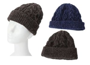 High Quality Hand Knitted Men Wool Cap Hat pictures & photos