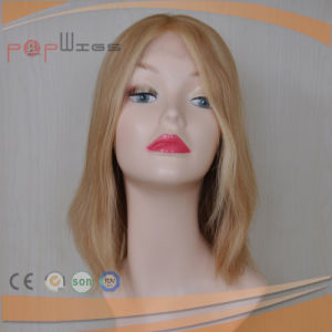 Blonde Human Hair Skin Top Lace Front Wigs on Sell pictures & photos