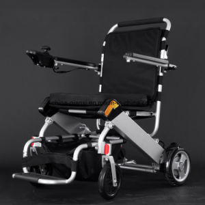 Lightweight Alloy Frame Lithium Battery Electric Wheelchair pictures & photos