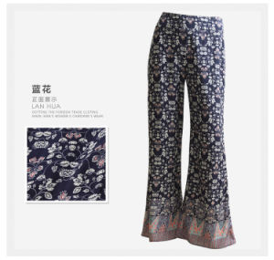 Wholesale New Arrival Tribal Print Rayon Women Pants pictures & photos