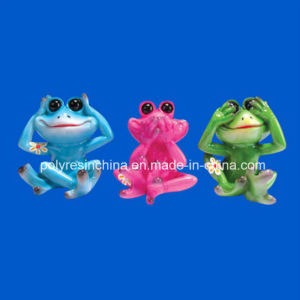 Resin Colorful Frog with Fridge Magnet pictures & photos