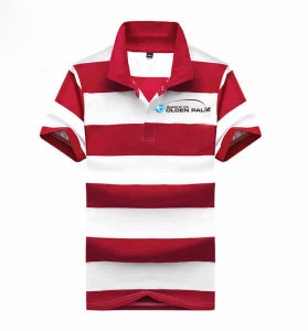 Maroon Striped Best Quality Men Polo T-Shirts pictures & photos