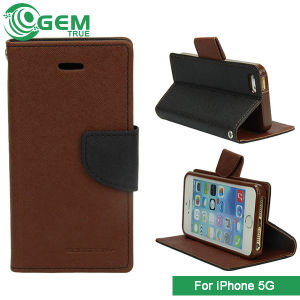 Mercury Hybrid Luxury PU Leather TPU Stand Flip Book Cover Case for iPhone 4 5 6