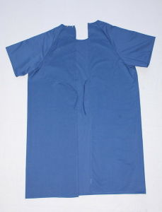 Blue Disposable SMS Non-Woven Hospital Patient Gown pictures & photos