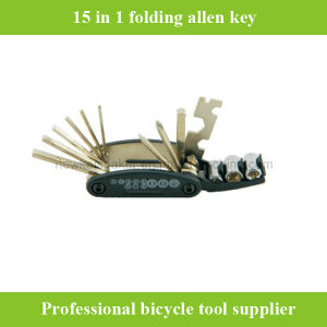 15 in 1 Folding Multi-Function Bicycle Bike Allen Key Repair Tool pictures & photos