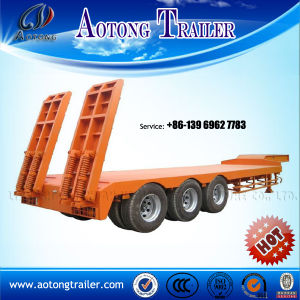 Liangshan Aotong 60 - 80 Ton Flat Lowboy Low Bed Trailer pictures & photos