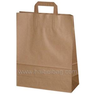 Flat Paper Handles Kraft Paper Bag (HBKR-2) pictures & photos