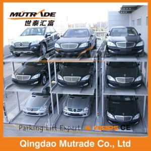 Hydraulic Vertical Auto Elevator Pit Four Post Underground Car Parking Lift for Warehouse pictures & photos