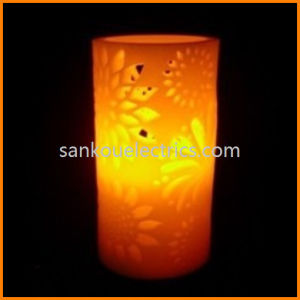 Flower Hollow out LED Wax Candle for Bar, Party and Home Decorations