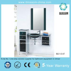 Freestanding Bathroom Glass Vanity (BLS-2147) pictures & photos