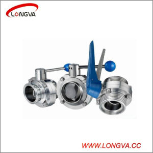 Sanitary Stainless Steel 2PCS Manual Butterfly Valve pictures & photos